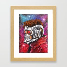 Galaxy Hero Framed Art Print