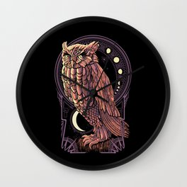 Owl Nouveau Wall Clock