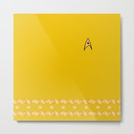 Star Trek TOS Yellow Captain Uniform Metal Print