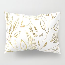 Holiday golden Pillow Sham