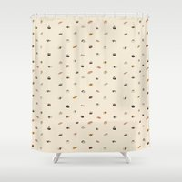 sushi Shower Curtains featuring Sushi  by Thewilson