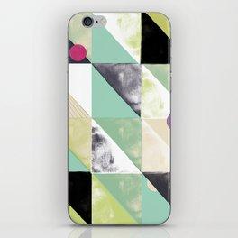 Printed triangle pencil pattern iPhone Skin