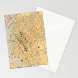 Vintage Map of Washington D.C. (1909) Stationery Cards