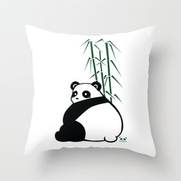 Big Butt Panda Throw Pillow