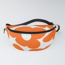 Orange Retro Flowers White Background #decor #society6 #buyart Fanny Pack