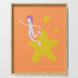 Reach for the Stars - Yellow Serving Tray