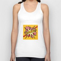 comic book Tank Tops featuring Comic Book THANKS! by Thisisnotme