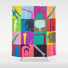 Pop Music Art Shower Curtain