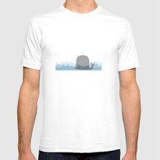 cute whale Mens Fitted Tee White MEDIUM