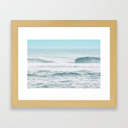 Beautiful Blue Ocean Waves in Kauai Framed Art Print