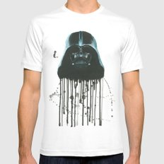Darth Vader Mens Fitted Tee White MEDIUM