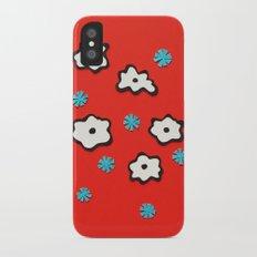 Dutch Flowers on Red Slim Case iPhone X
