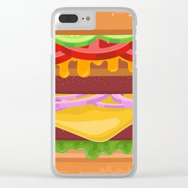 Gigantic Burger Clear iPhone Case