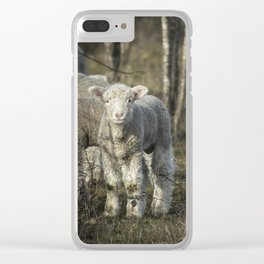 Winter Lamb Clear iPhone Case