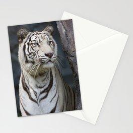 White Tiger portrait Stationery Cards
