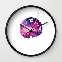 Time Runs Out Time Conscious Or Spiritual Person Gift Wall Clock
