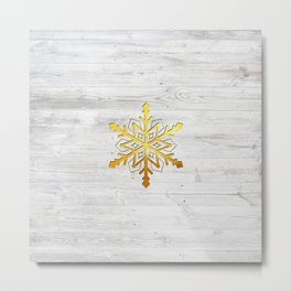 Snow in Gold Metal Print