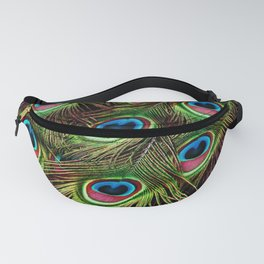 Iridescent Peacock Feathers Fanny Pack