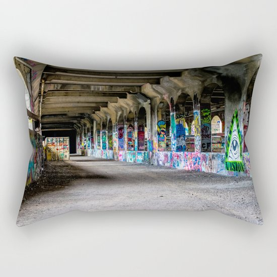 Down the Hall Rectangular Pillow