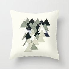 French Alps at Dusk Throw Pillow