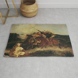 """Eugène Delacroix """"Fantasia Arabe"""" Rug"""