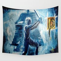 peter pan Wall Tapestries featuring Peter Pan by ANoelleJay