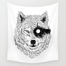I Dream in Solitude (B/W) Wall Tapestry