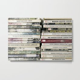 louis l'amour paperbacks Metal Print
