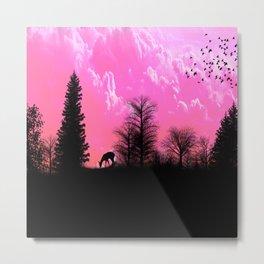 Amazing Sunset Silhouette Metal Print