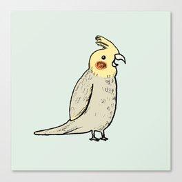 Happy Cockatiel Canvas Print