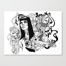 Nicotine & Unbroken Line Canvas Print