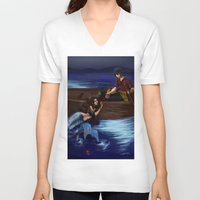 zuko V-neck T-shirts featuring Enchanted by NiiArt