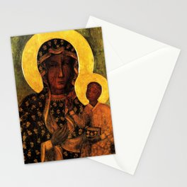 Black Madonna Our Lady of Czestochowa Poland Virgin Mary Icon Stationery Cards