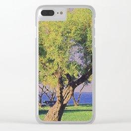 Tamarisk Trees Overlooking the Ocean Clear iPhone Case