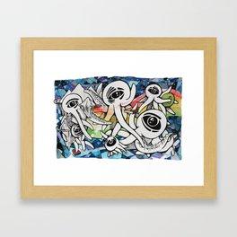 Soaring Cephalopods Framed Art Print