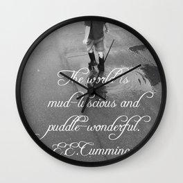 Puddle Wonderful Wall Clock