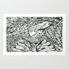 Wonderful Silence || Van Art Print