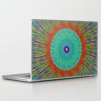kaleidoscope Laptop & iPad Skins featuring Kaleidoscope  by BrucestanfieldartistPatterns