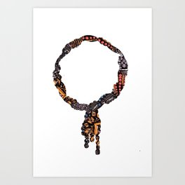 Ruby Necklace Art Print