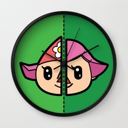 Old & New Animal Crossing Villager Female Wall Clock