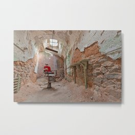 Abandoned Barber Prison Cell Metal Print