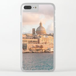 Valletta at Golden Hour Clear iPhone Case