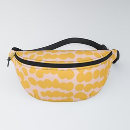Tropical Summer Yellow, Abstract Dots Pattern Fanny Pack