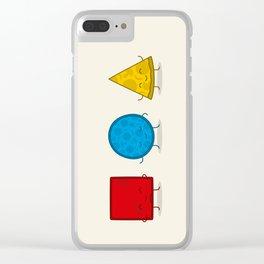 Bauhaus Pizza - Cute Doodles Clear iPhone Case