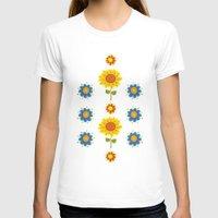 ukraine T-shirts featuring Sunflowers of Ukraine by rusanovska