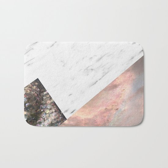 Marble with sequins and mother of pearl Bath Mat