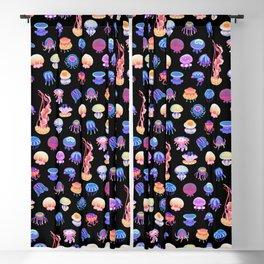 Jellyfish Day - dark Blackout Curtain