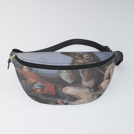 François-Auguste Biard - Fight with Polar Bears Fanny Pack