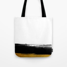Black and Gold grunge stripes on clear white background - Stripe - Striped Tote Bag