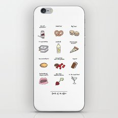 Foods of The Office iPhone Skin